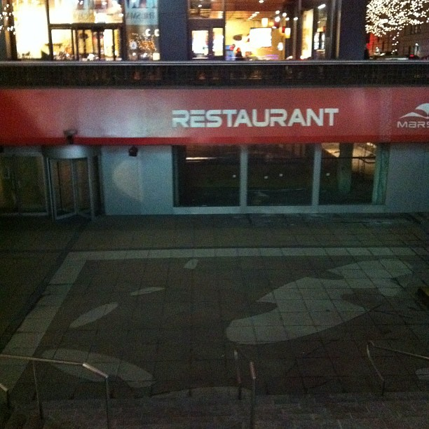 Goodbye Mars 2112! Weirdest theme restaurant ever! (Taken with  instagram )