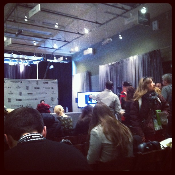 Press conference set up.  (Taken with  instagram )