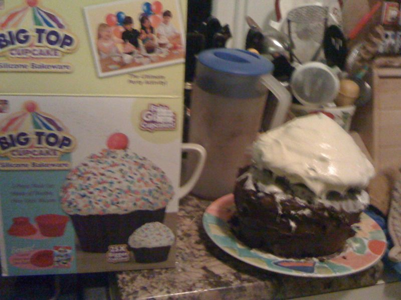 The giant cupcake did not come out as it did on TV.