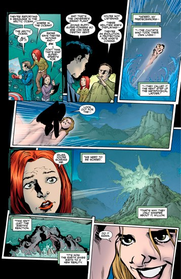 """Buffy The Vampire Slayer  continued into the comics' only   Season Eight  .   It's basically a gigantic amount of fan-service. But then comes the final arc,  Twilight .   And it basically can be summed up in this issue: """"Them Fucking (Plus The True History of the Universe)""""   Also, Buffy can now fly and has flying space sex. So, think of this fondly when watching the old episodes."""