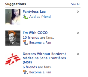 Finally, Facebook Suggestions, you come through for me.