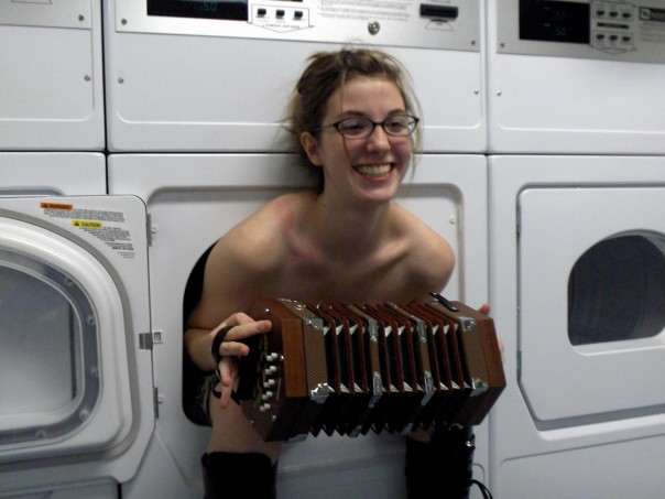 """to be fair, you haven't lived until you and your ladyfriend have played """"washer-dresser"""" at a """"Laundromat.""""    heller :      deleteyourself :   Got a dork girl playing the accordion at the laundromat fetish?  The internet has something for you."""