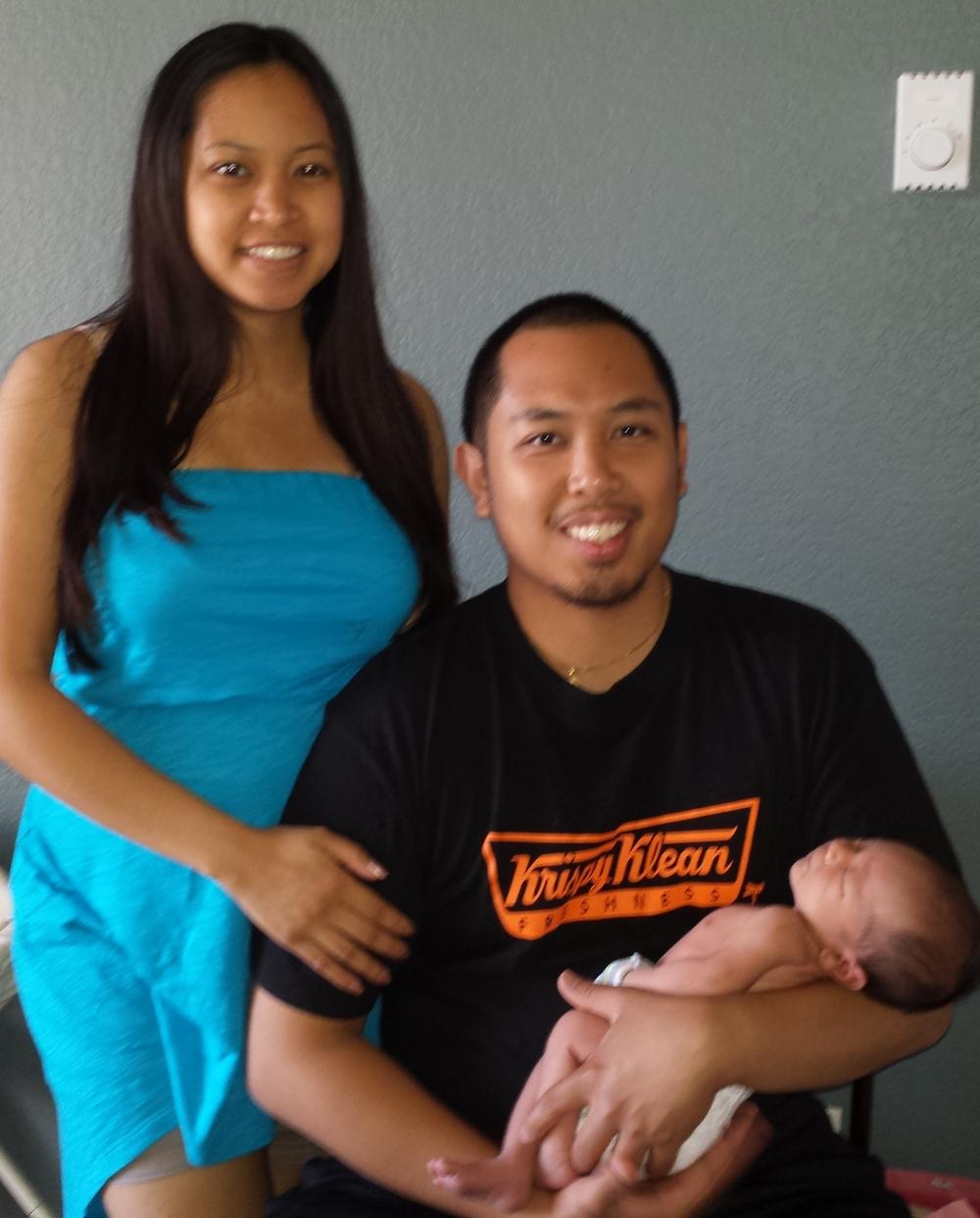 Chloe, RJ & baby Giovanni