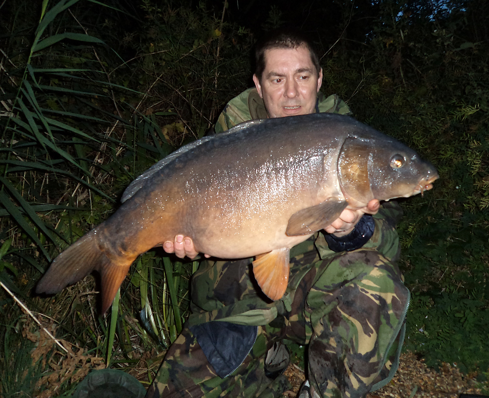 A very clean mirror at 19lb 8ozs for Gary