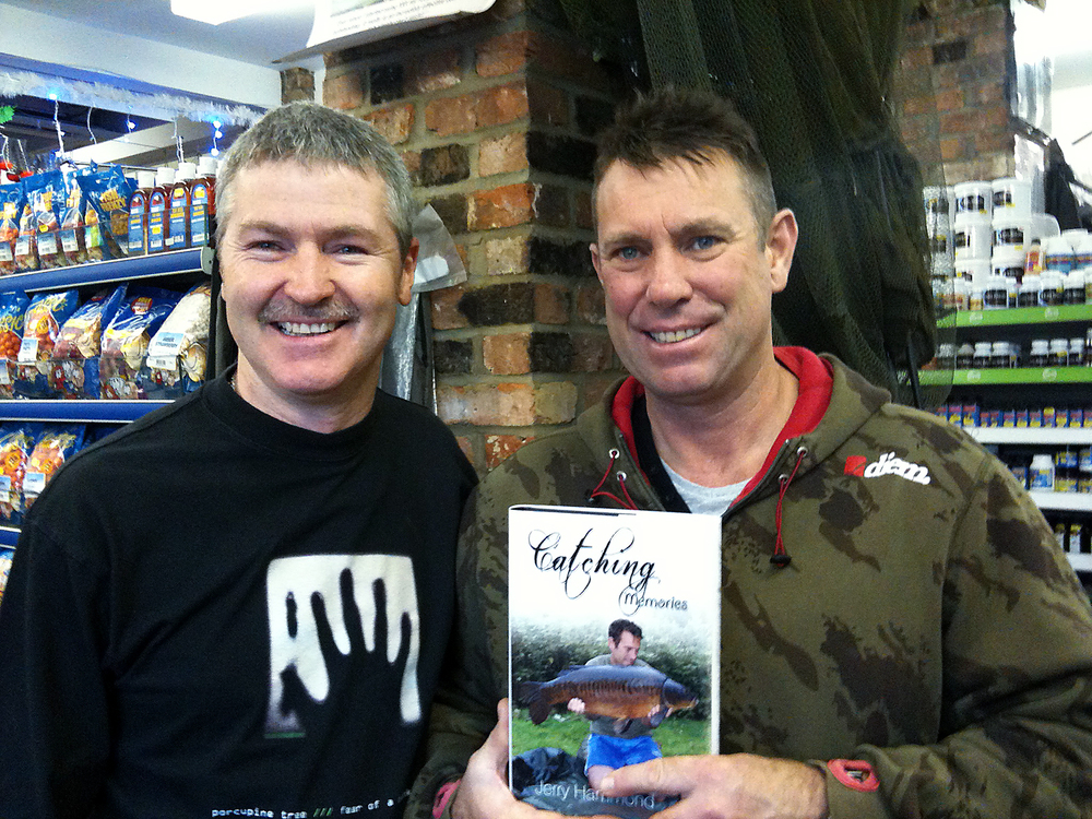 Fishery manager, and good friend, Jerry Hammond. He never misses a chance to promote that book!