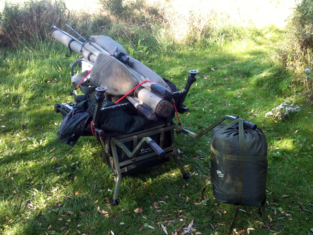 The barrows loaded up, and the carp gear will be packed away for another season