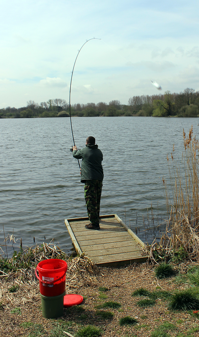 Spombs away! Putting out some bait for the bream