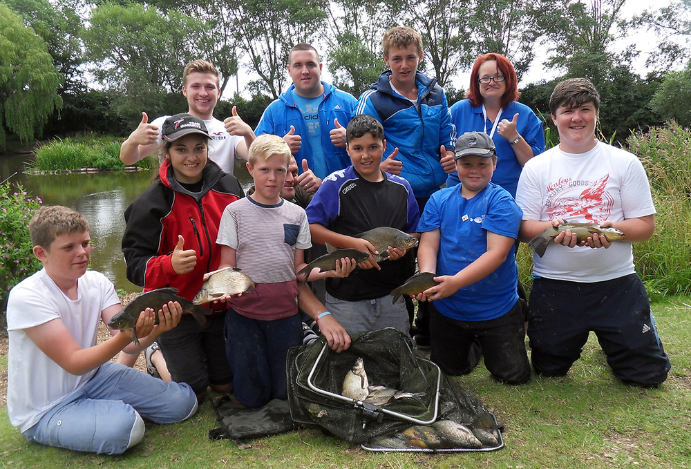 Young anglers at Billingham Angling Club