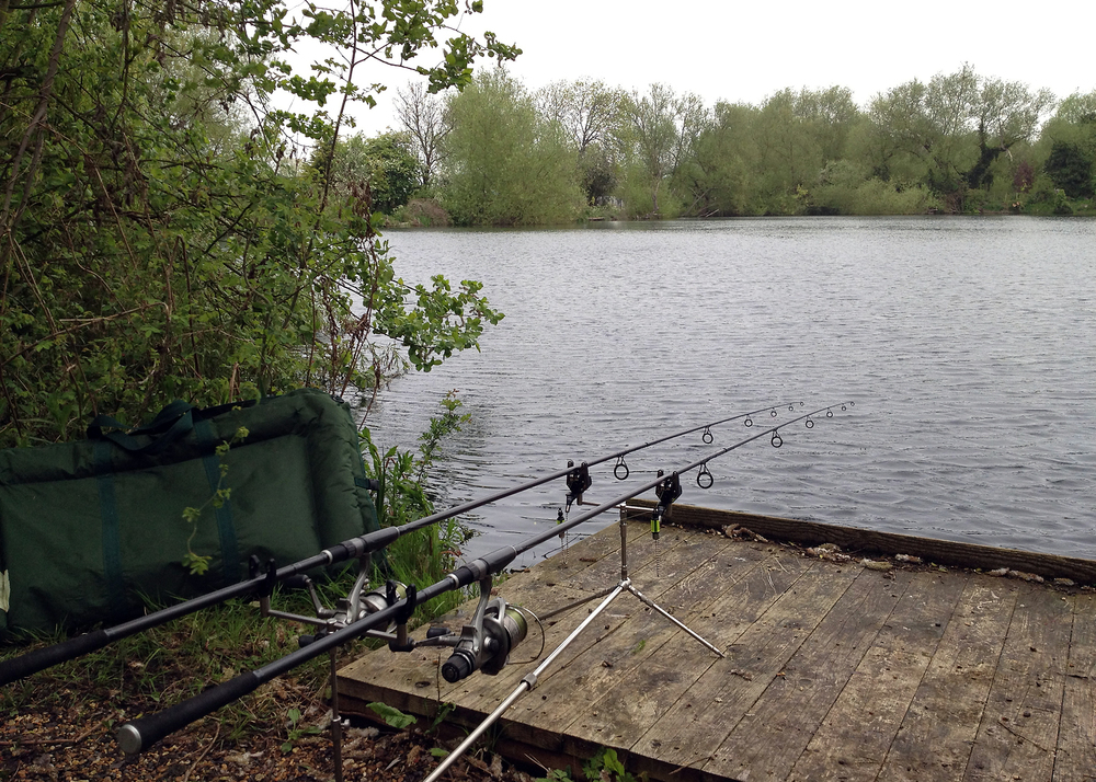 Another lake, another carp... hopefully. There's a couple of 40s in this one