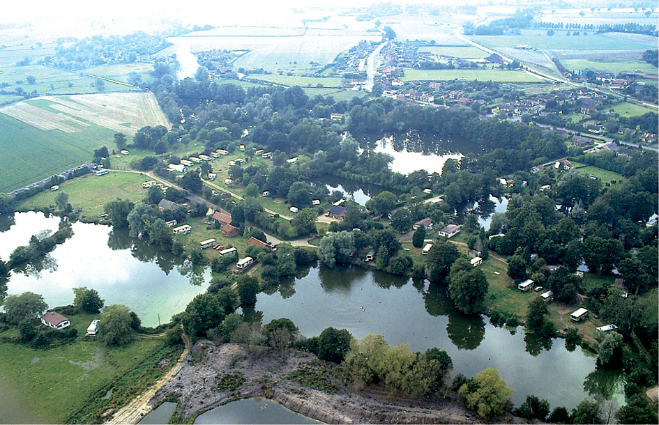 An aerial view of Waveney Valley Lakes