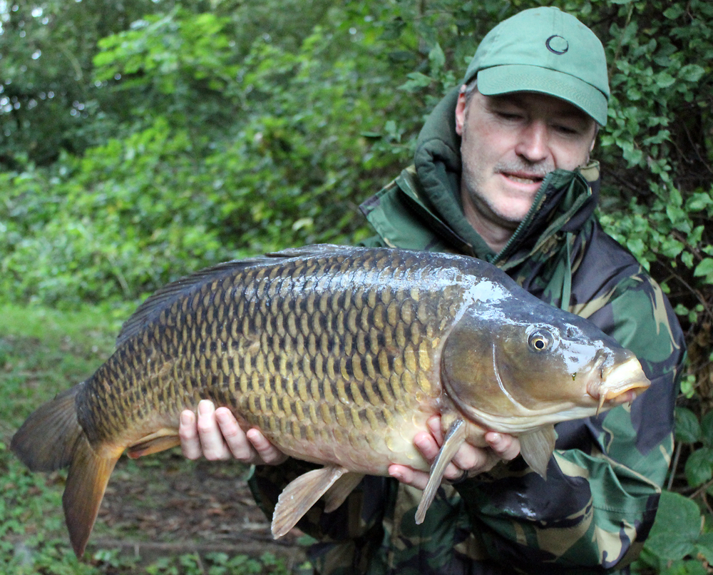 Placing a bait where the fish were showing certainly worked, as this 18lb 5oz common proved