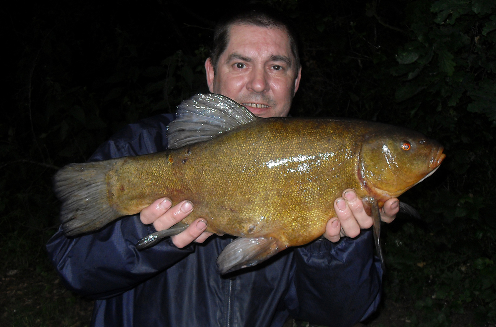 That's more like it, a reasonable tench, our target species?