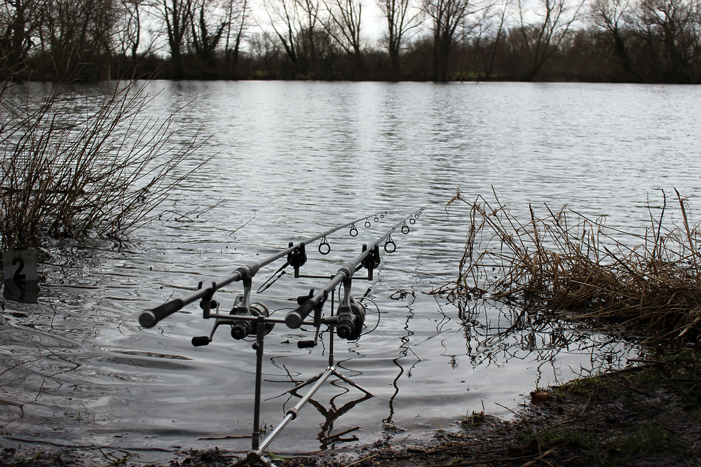 The rods are set, but will there be any action on this grey afternoon?