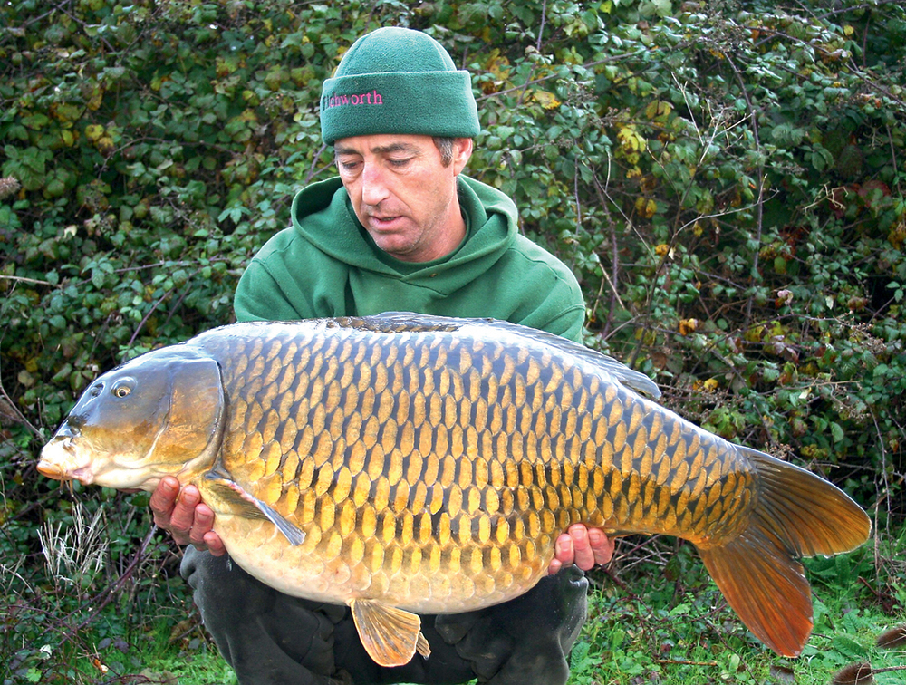 Picking an uncomfortable swim paid dividends for Martin, the big common at 43lb 10ozs