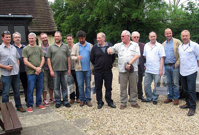 Usual suspects? (From L to R) Lee Tebble, Tony Meers, Clive Bradley, Christian Barker, Sam Meeuwissen, Daryl Close, Gary Newman, Bob Hornegold, Tony Pithers, Ray Taylor, Gary Newland, Mark Walsingham, Barry Shipman