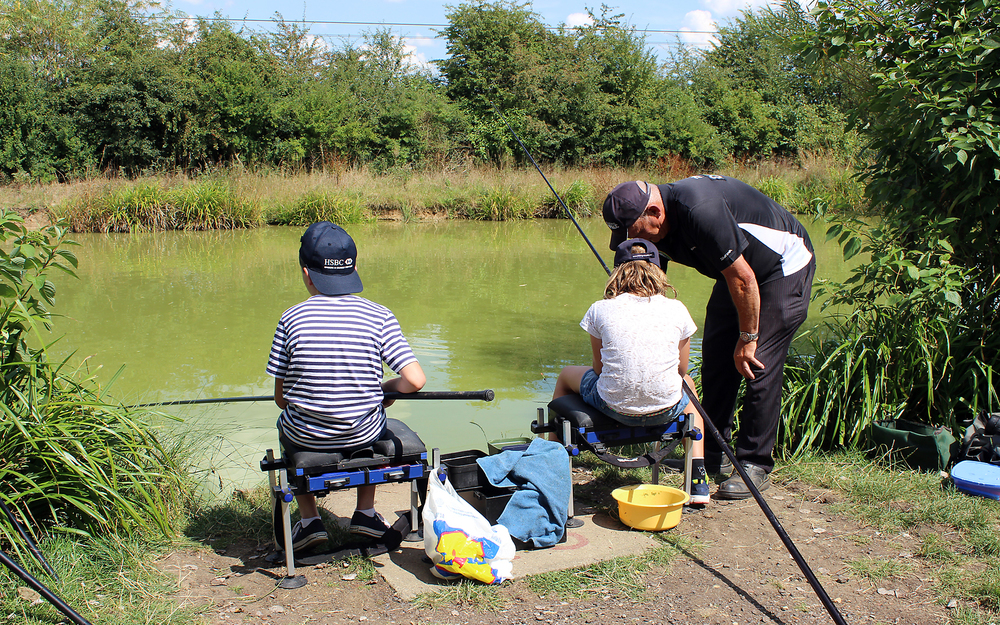 Fancy a bit of pole fishing, no problem, with help from coach Dave Simms