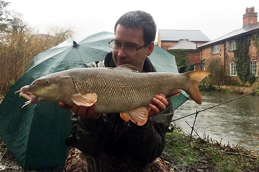 The second barbel of the day from Daz at 8lb 14ozs