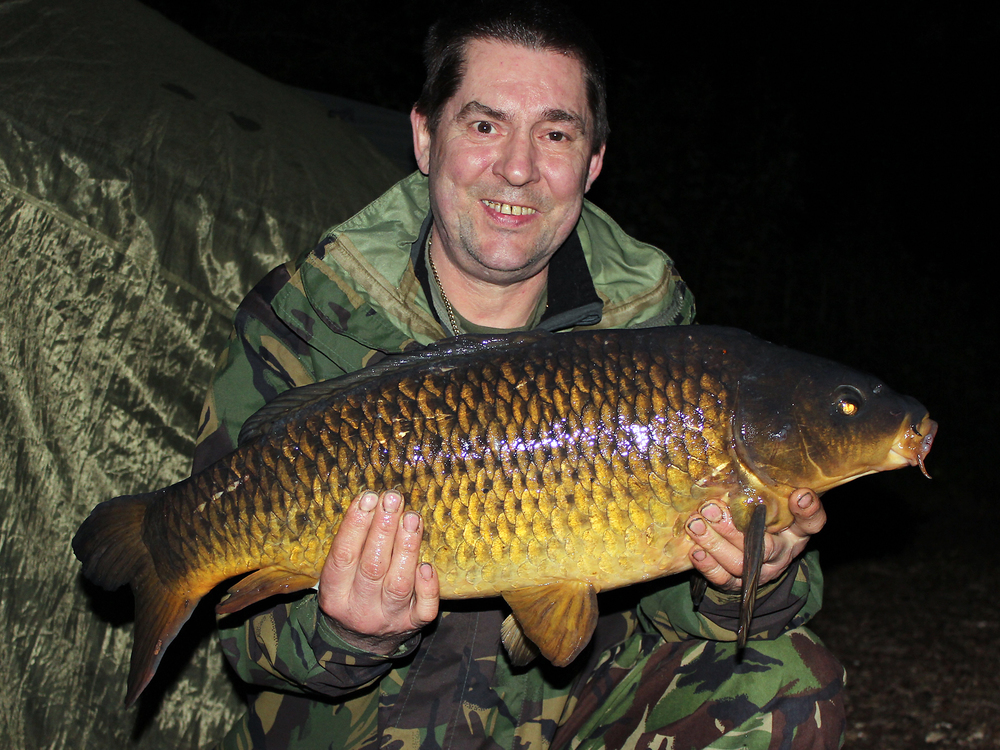 A nice golden common, so Gary's happy, not that it gets us any nearer to the big bream
