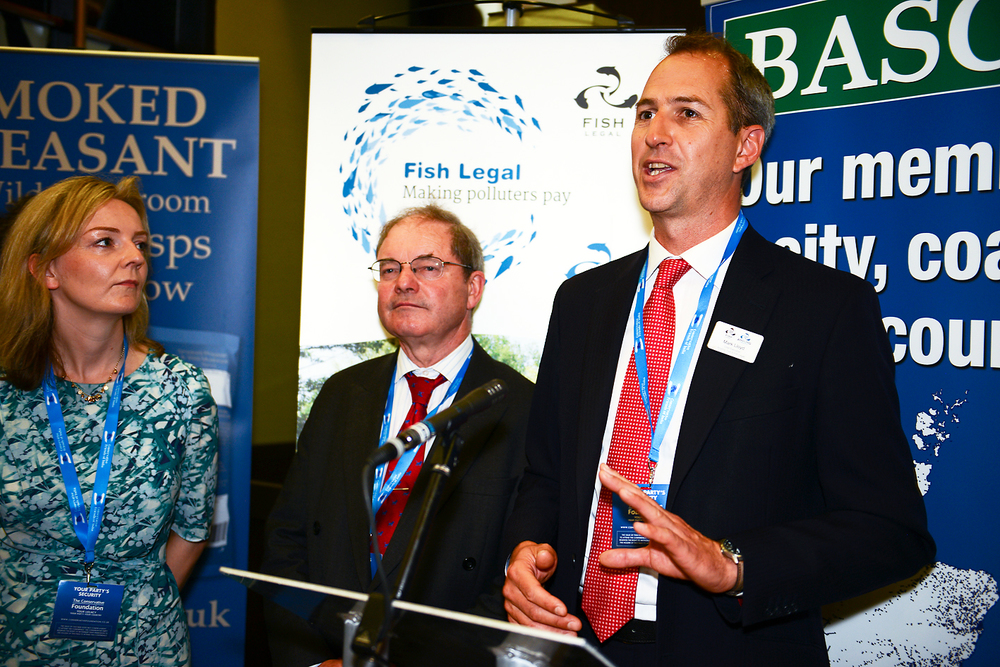 AT & Fish Legal Chief Executive Mark Lloyd speaking at the Conservative conference in Manchester alongside Liz Truss MP, Secretary of State for the Environment.
