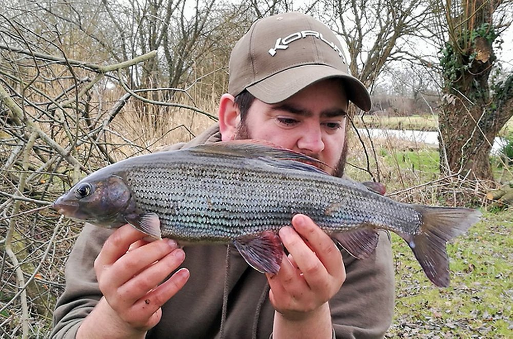 Nate Green with his 1.14 grayling