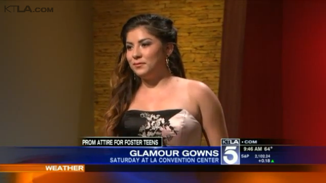 Representing Stylisted on KTLA for Glamour Gowns.
