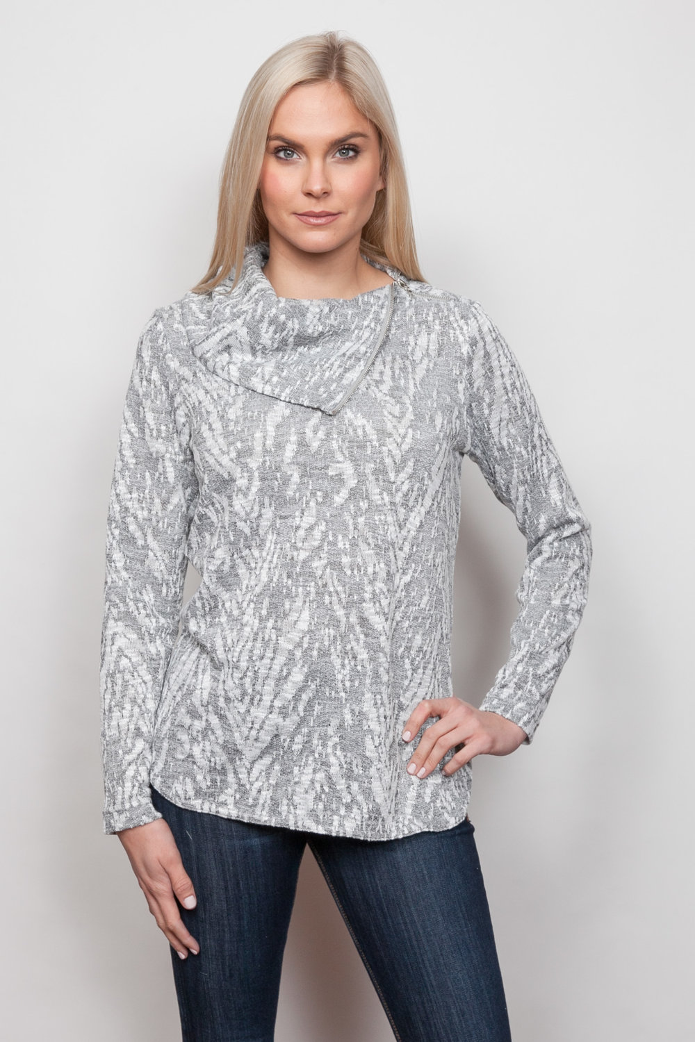 Copy of Style # 39356-18, p 11 </br>Snow Cat French Terry </br>Color: Grey Heather