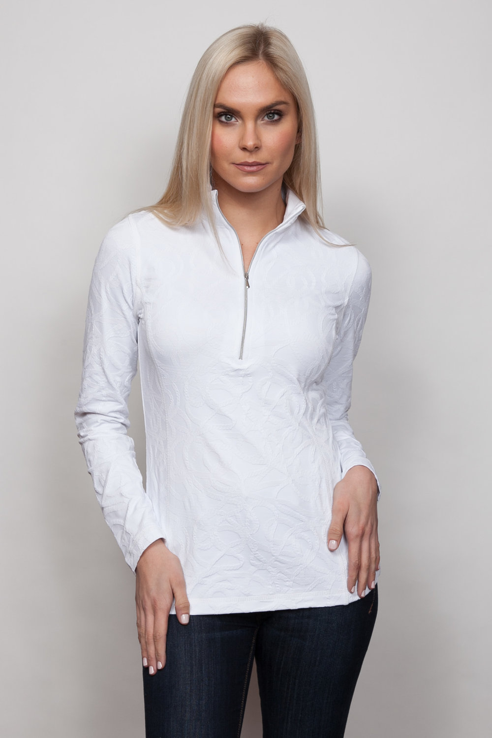 Copy of Style # 48738-18, p 9 </br>Braided Sport Jacq'd </br>Color: White