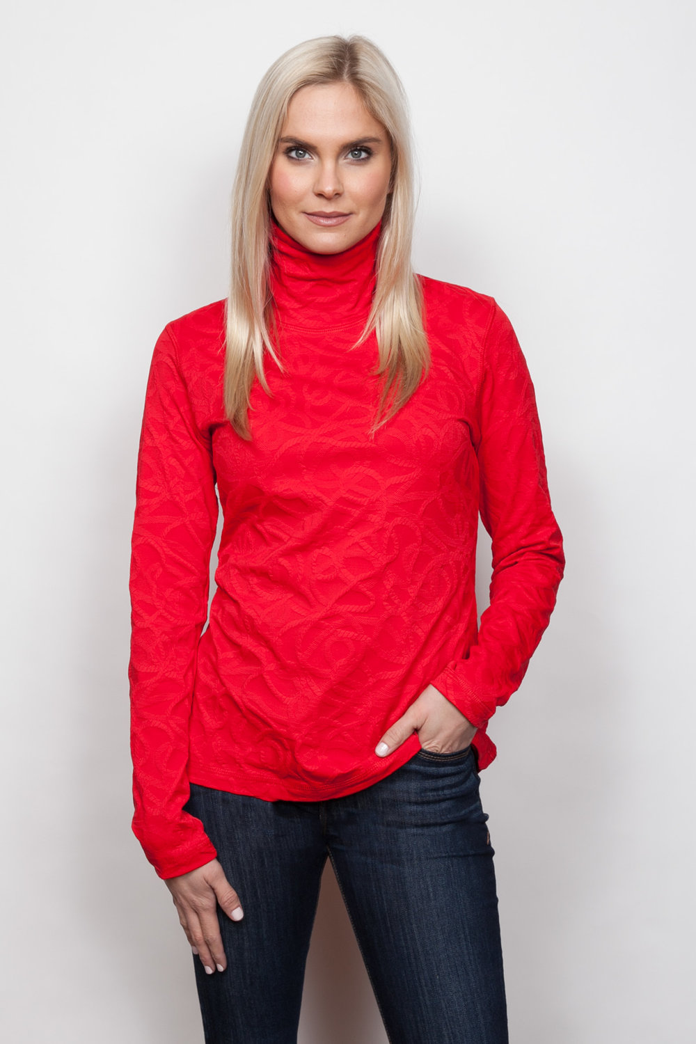 Copy of Style # 48433-18, p 9 </br>Braided Sport Jacq'd </br>Color: Cherry