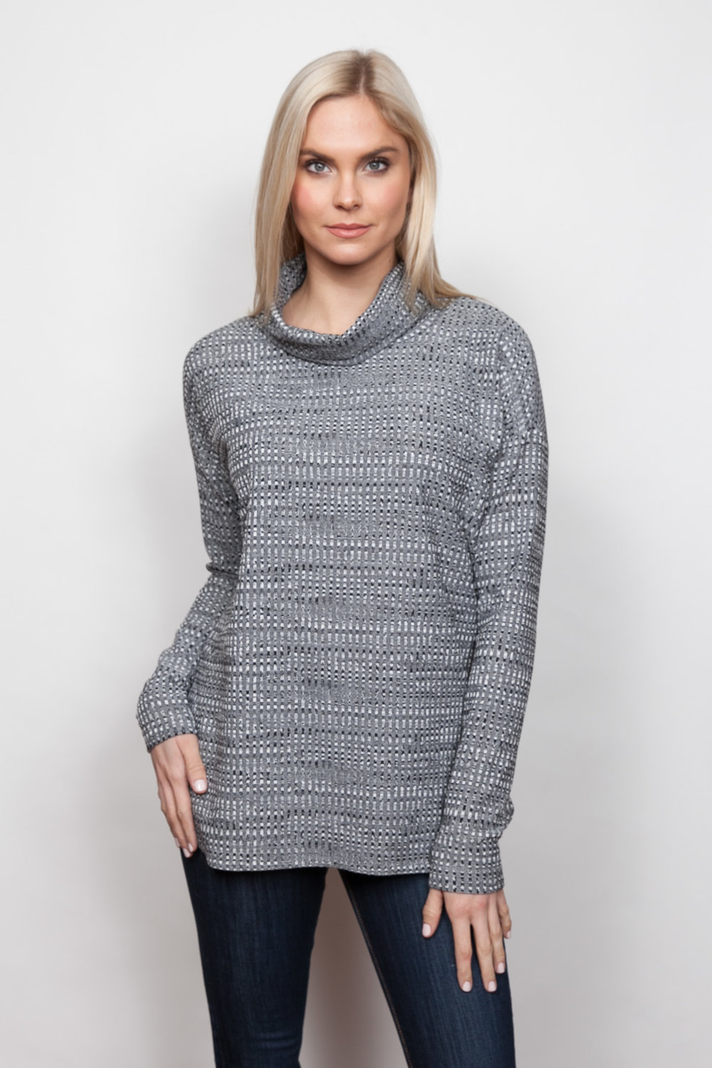 Copy of Style # 92440-18, p 5 </br>Tweedy Mini Check Jacq'd </br>Color: Charcoal
