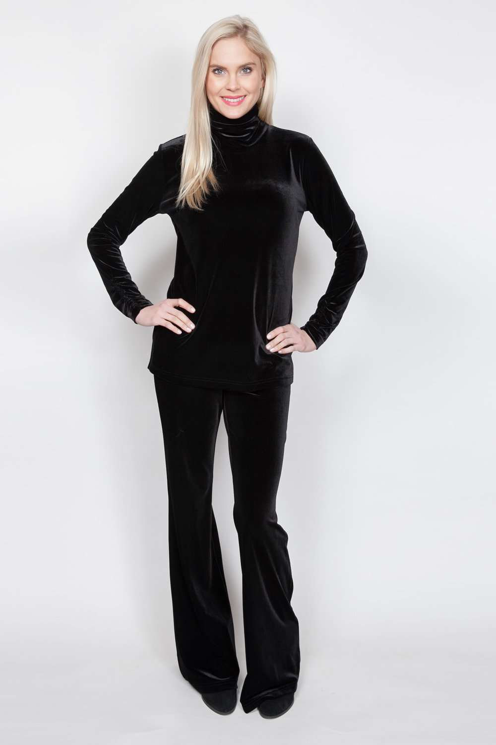 Copy of Style # 11450-18, p 13 </br>Plush Tech Velvet, Turtleneck </br>Color: Black + 5 others