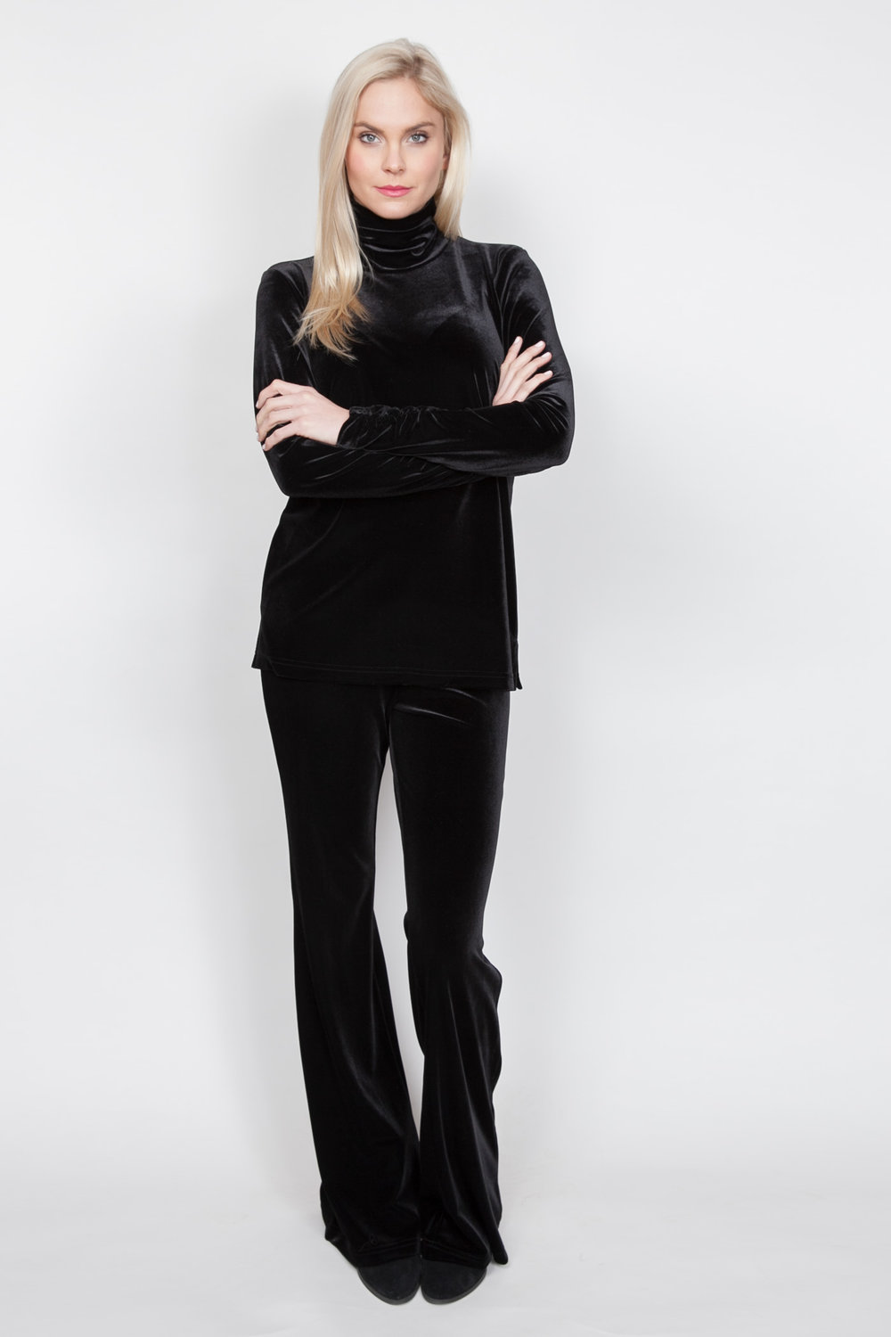 Copy of Style # 11228-18, p 13 </br>Plush Tech Velvet, Fit/Flair Pant </br>Color: Black + 5 others