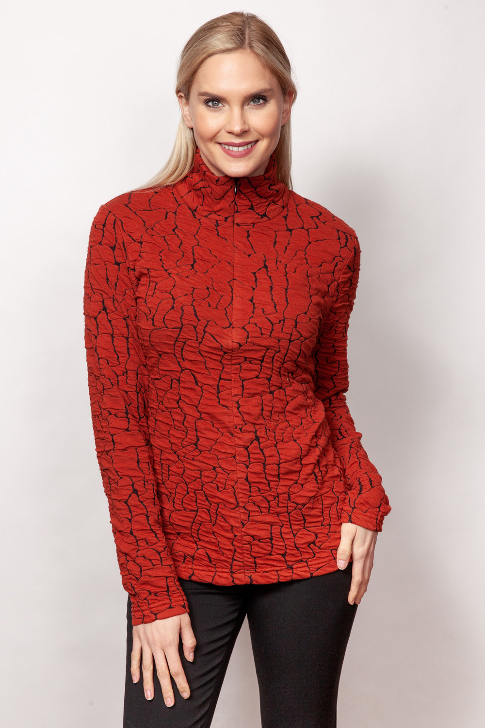 Copy of Style # 80389-19, p 9 <br/>Blister Knits <br/>Colors: Persimmon + 2 others