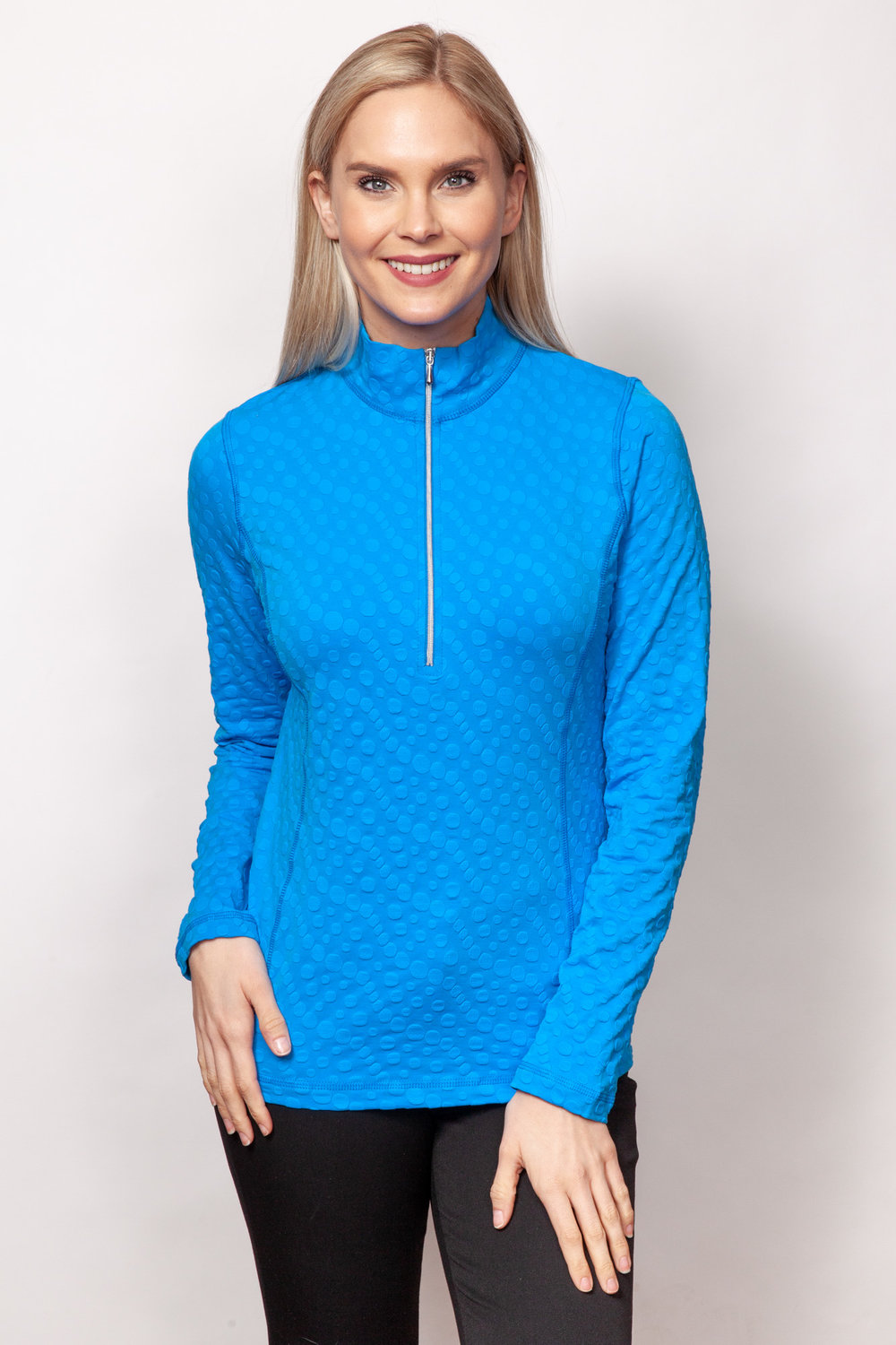 Copy of Style # 48738-19, p11 <br/>Dots Sport Jacq'd <br/>Colors: Azure + 4 others