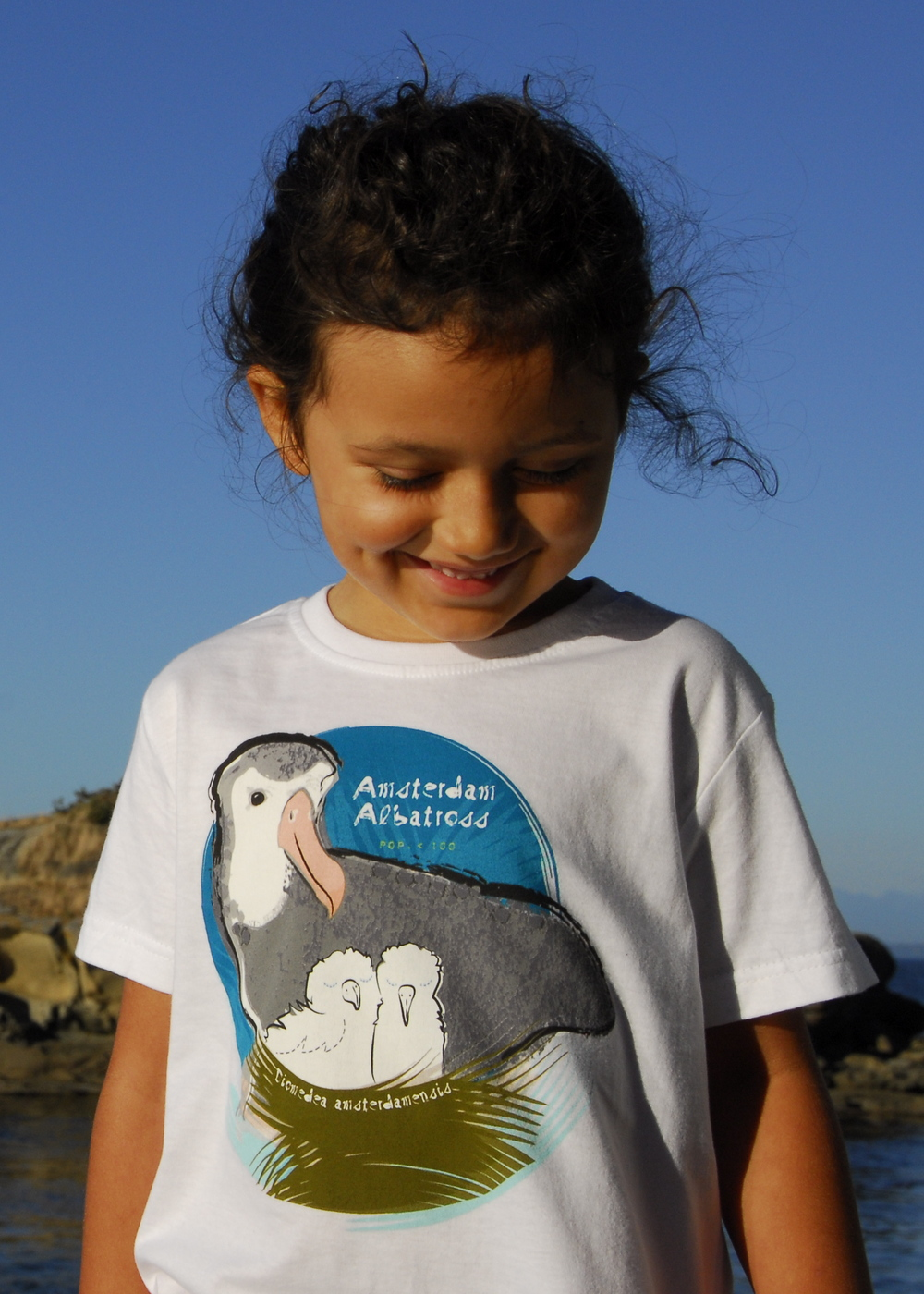 $1 for One.  Support the extraordinary work of BirdLife International and its  Save the Albatross Campaign by purchasing a SpeeZees Amsterdam Albatross t-shirt in Beluga White.  Made with love from 100% GOTS certified organic cotton.
