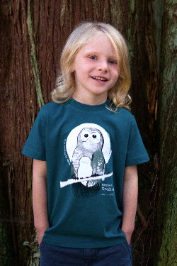 $1 for One.  Support the important work of the  Wilderness Committee  by purchasing a  SpeeZees Northern Spotted Owl t-shirt in Deep Sea or Ocean .  Made from  100% GOTS certified organic cotton .