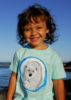 $1 for One.  Support the crucial work of Polar Bears International by purchasing a SpeeZees Greater Polar t-shirt in Ocean or Danish Blue.  Made from 100% GOTS certified organic cotton. SpeeZees is all about bringing attention to species we love, one t-shirt at a time.