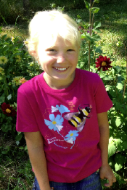 $1 for One.    Support the extraordinary work of Xerces Society by purchasing a SpeeZees Western Bumble Bee t-shirt in  Raspberry  or  Forest  .  Made from  100% GOTS certified organic cotton .