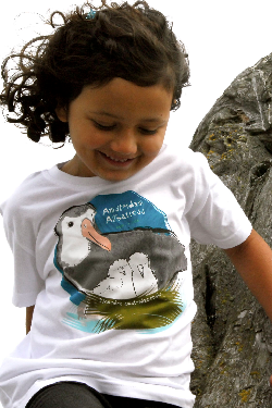 $1 for One.  Support the extraordinary work of BirdLife International and its  Save the Albatross Campaign by purchasing a SpeeZees Amsterdam Albatross t-shirt in Beluga White.  Made with love from 100% GOTS certified organic cotton. SpeeZees is all about bringing attention to species we love, one t-shirt at a time.