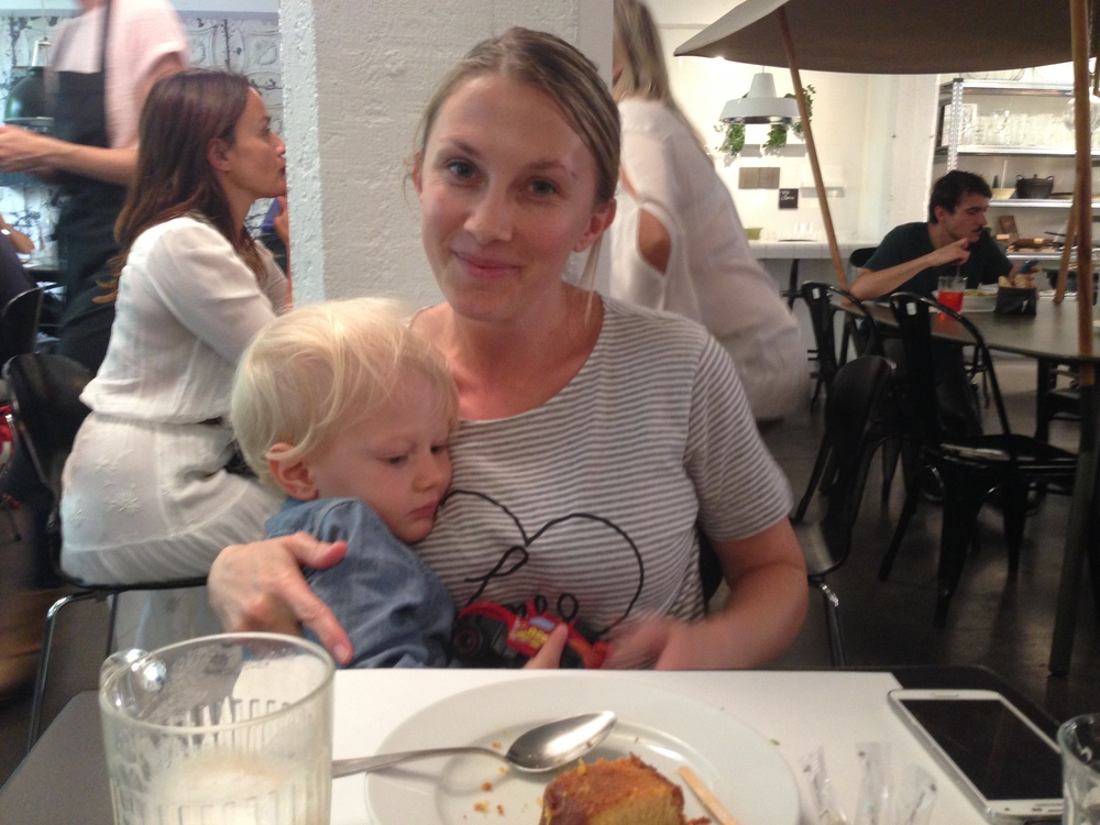 Australian expats:My dear friend Hayley, and her adorable son Valentino.