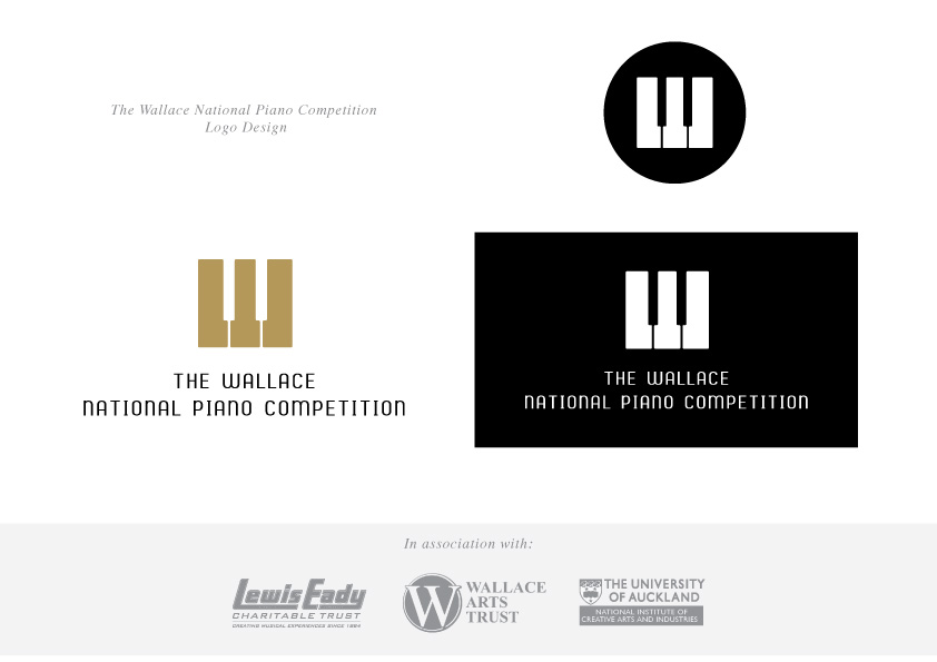 Logo Design -  Wallace National Piano Competition