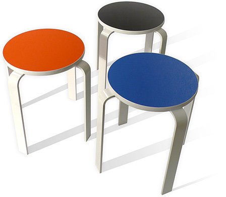 Bolla Core Task Stool Blue Orange Black