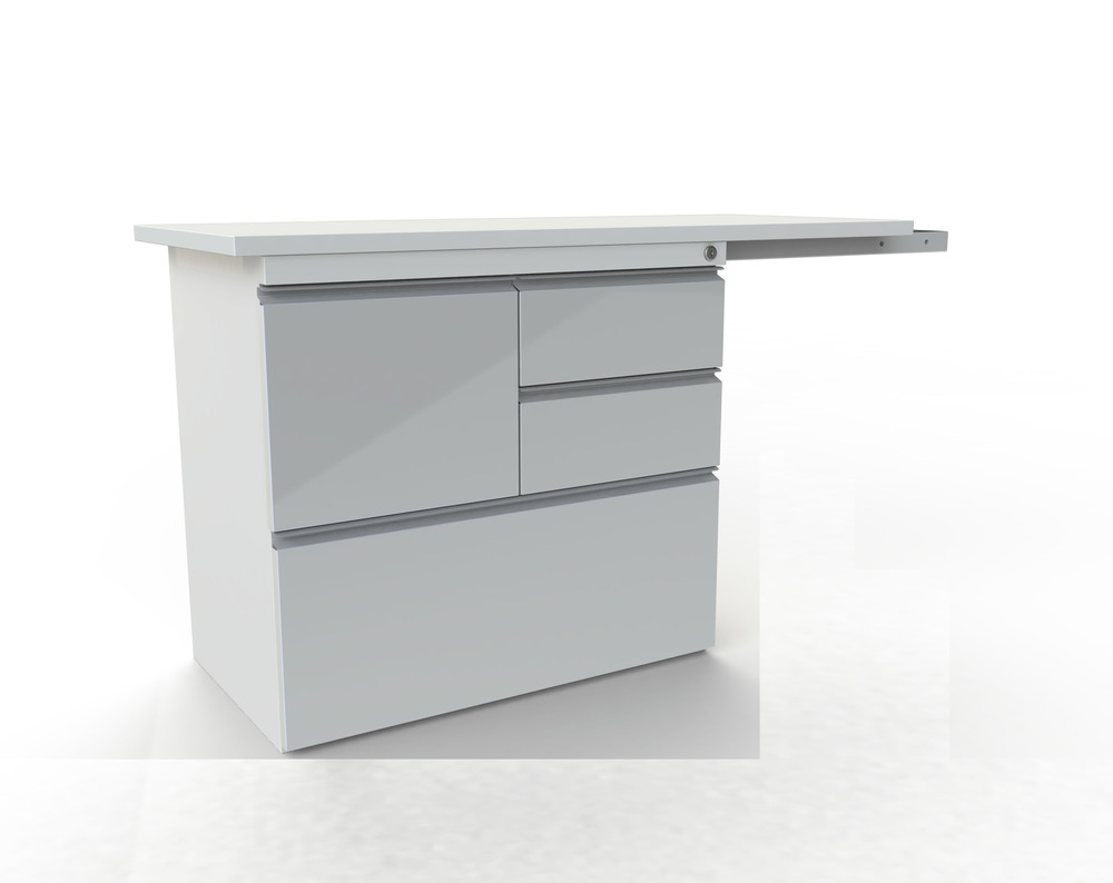 Multi-Drawer unit with side table