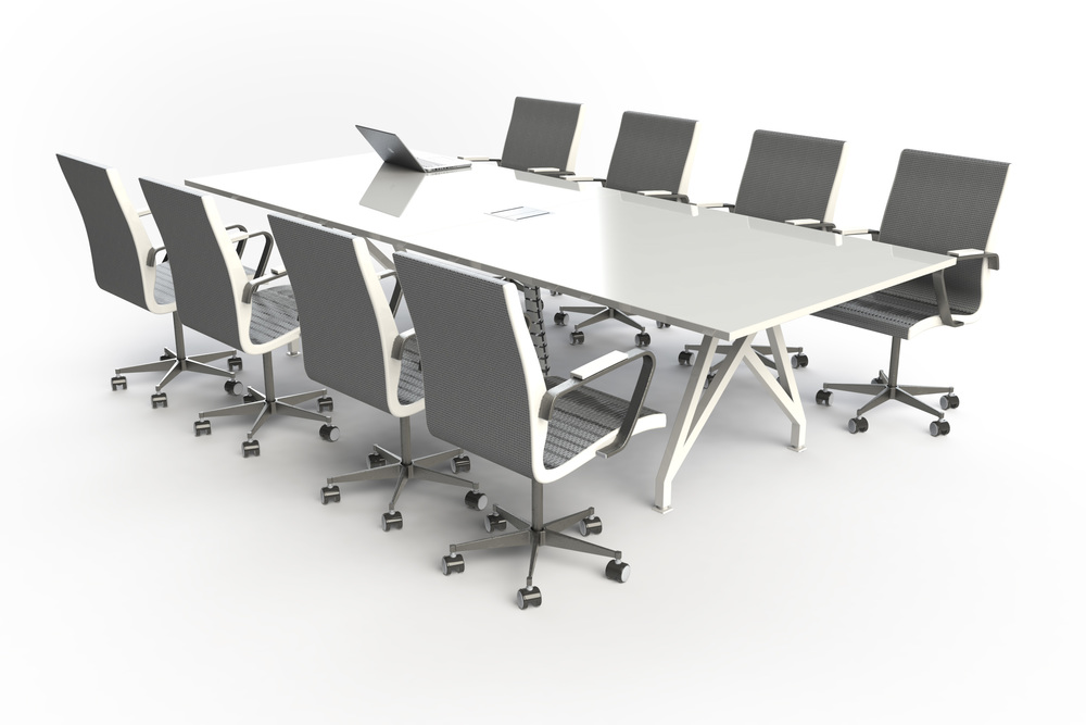 Think Tank Conference Table Silver