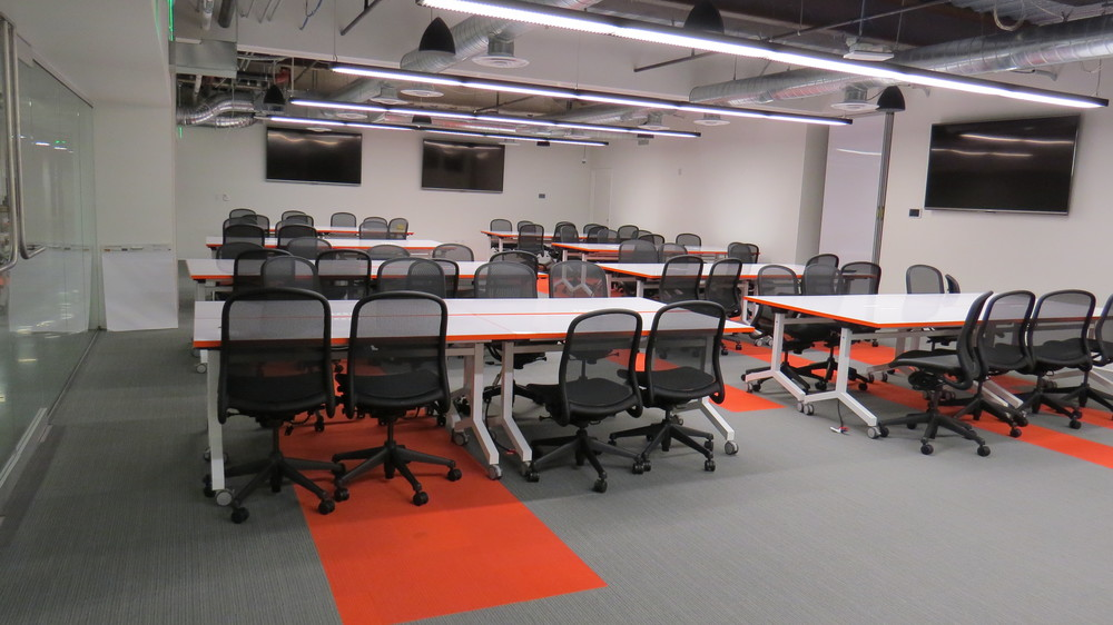 Training tables by Scale 1to1 for Galvanize U, Denver campus.