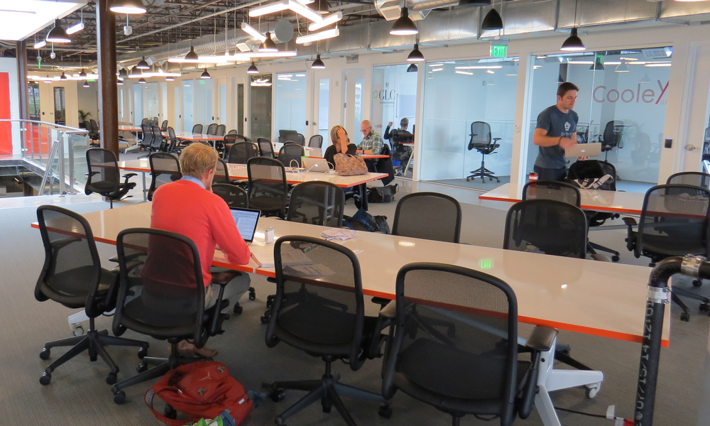 12' NOMAD tables at Galvanize, Denver Campus