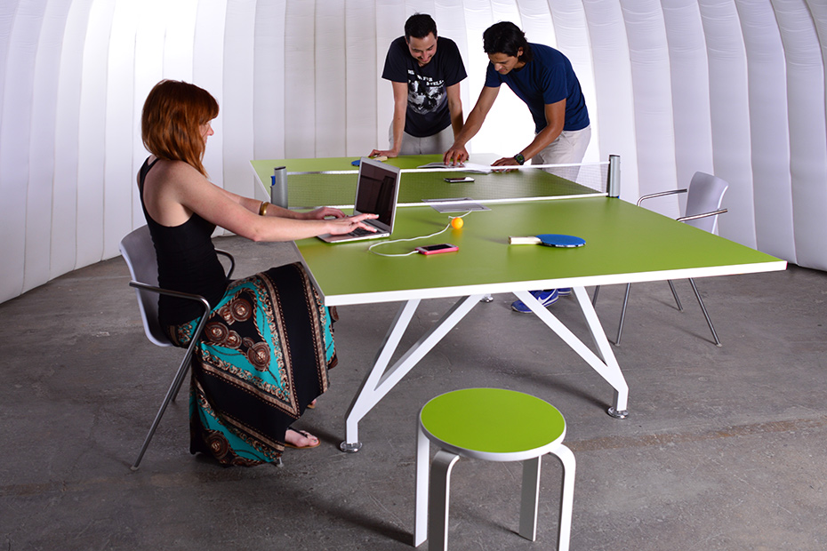 EYHOV Sport Folding Conference Mobile Green Ping Pong Table