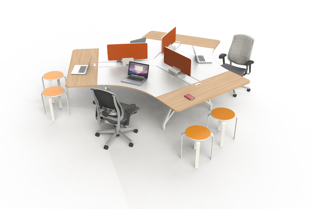 EYHOV Team Workstation Hub 120 Desk