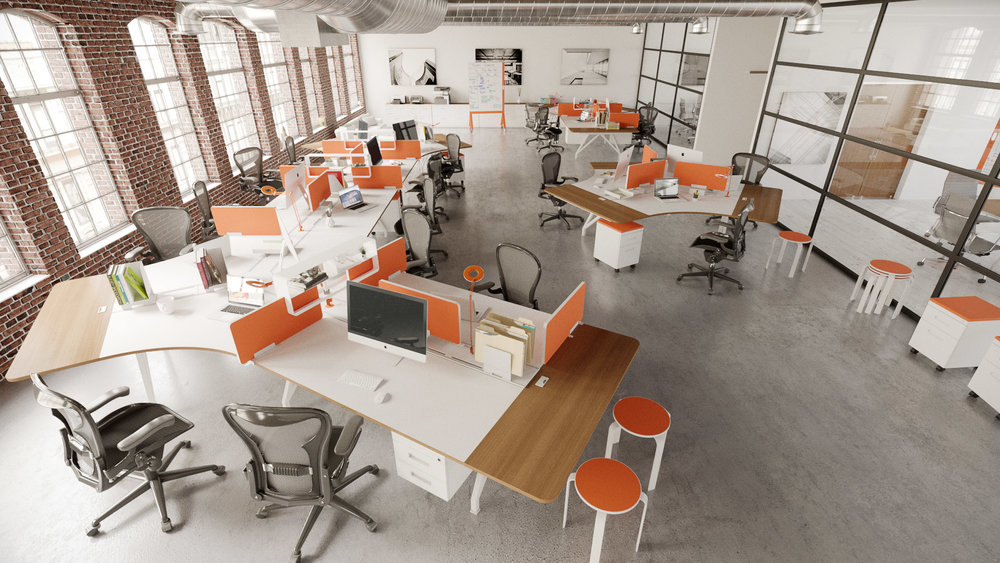 EYHOV Team Workstation Hub 120 Workstation Desks