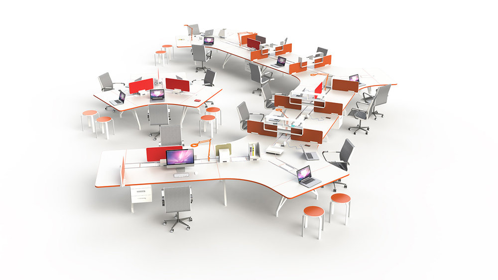 EYHOV Team Workstation Hub 120 Desks