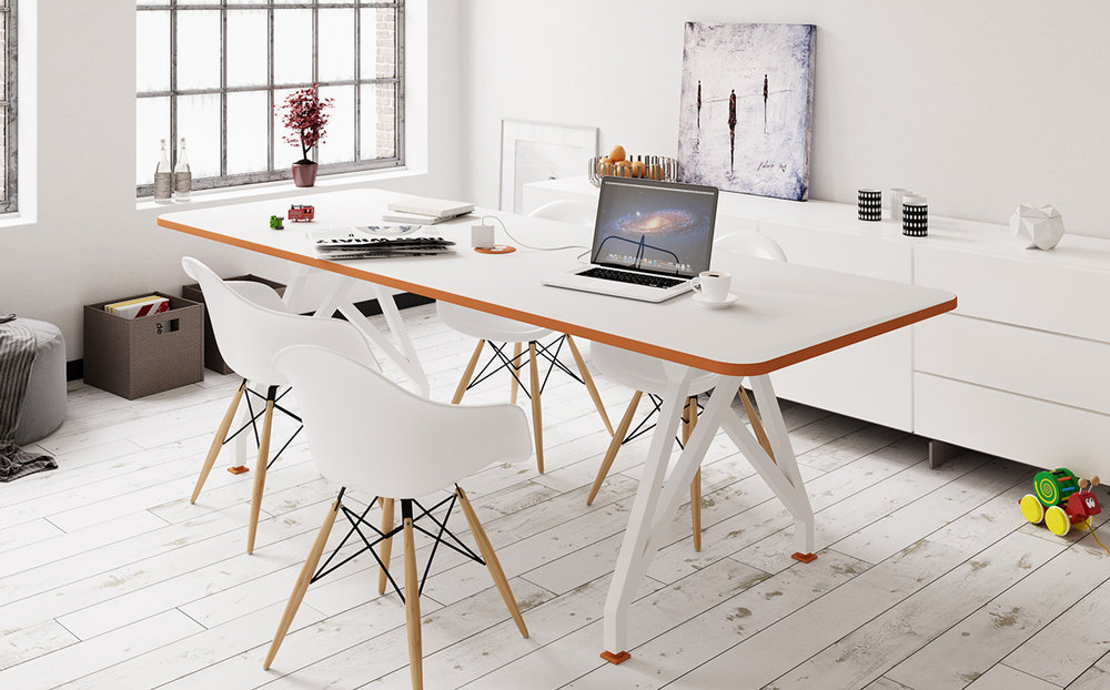 White Hot Spot Conference Table